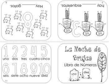 Spanish Halloween Numbers 1-10 Resource Packet by The