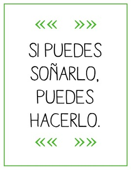 Spanish Quotes About Education : spanish, quotes, about, education, Spanish, Inspirational, Quotes, Worksheets, Teaching, Resources