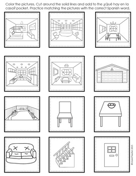 Spanish Interactive Notebook La Casa Activity or Game by