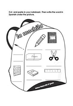 Spanish Interactive Notebook Los objetos de la clase 3rd