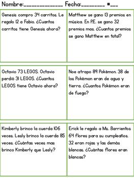 Spanish Math Word Problems By Bilingual Rockstar Teacher Tpt