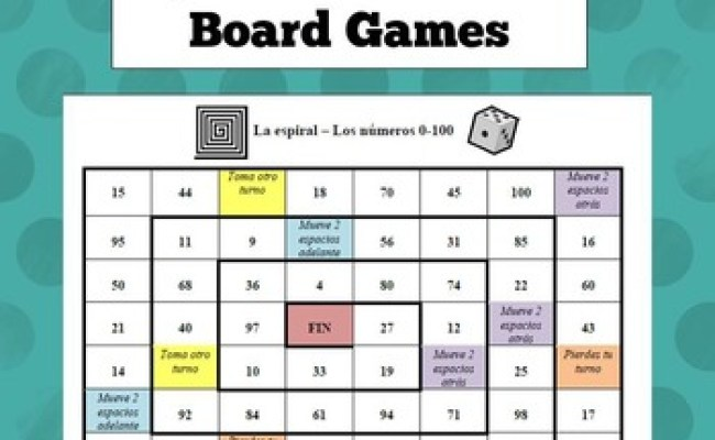 Spanish Numbers Board Game By Exploring French And Spanish