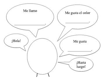 Spanish Phrase Practice: Me llamo / Me gusta / Colors