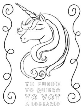 Spanish Positive Self-Talk Coloring Pages (Edition 1) by