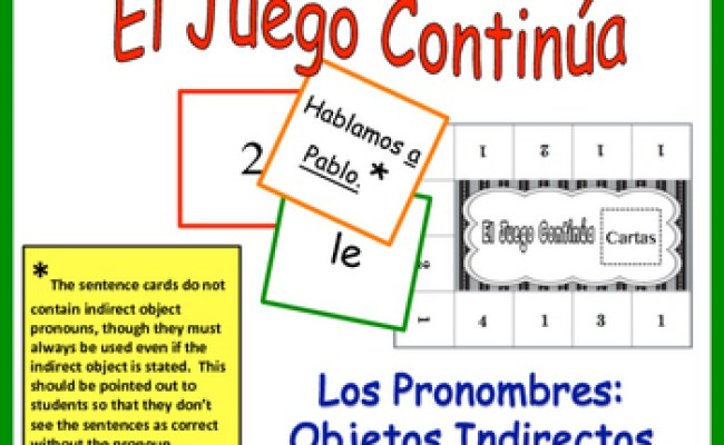 Spanish Indirect Object Pronoun Activity For Group By