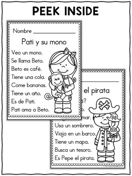 Spanish Reading Passage Coloring Sheets by Nicole and