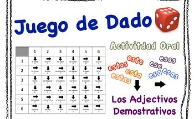 Spanish Demonstrative Adjectives Speaking Activity For