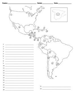 Blank Map Of Spanish Speaking Countries : blank, spanish, speaking, countries, Spanish, Speaking, Countries