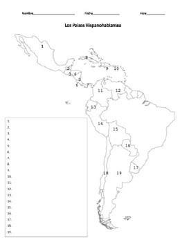 Blank Map Of Spanish Speaking Countries : blank, spanish, speaking, countries, Spanish, Speaking, Countries, Senora, Hoffer