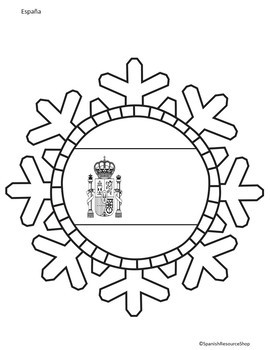 Spanish Speaking Countries Snowflakes by Spanish Resource