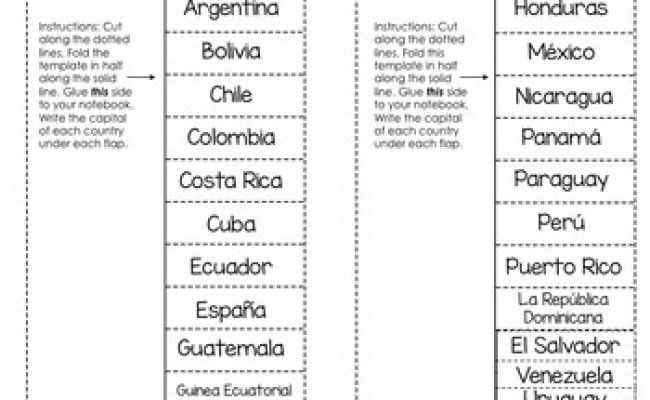 Spanish Speaking Countries And Capitals Interactive