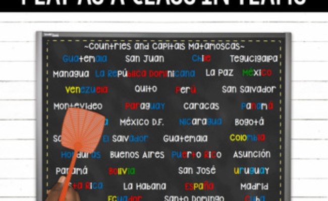 Spanish Speaking Countries And Capitals Matamoscas Games