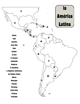 Spanish-Speaking Countries of Latin America UNIT by Second