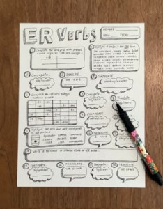 also spanish regular er verbs worksheet verb conjugation no prep rh teacherspayteachers