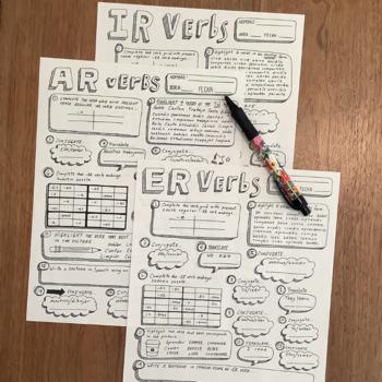 Tener Worksheet : tener, worksheet, Spanish, Practice, Verbs, Estar, Tener, Conjugation, Worksheets