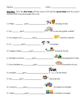 10 Best Images Of Worksheets Spanish Verb Gustar  Spanish Verb Gustar Worksheets, Spanish Verb