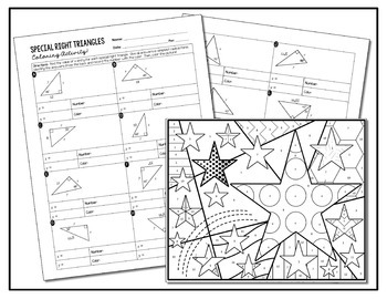 Special Right Triangles Coloring Activity by All Things
