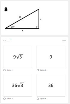 Special Right Triangles- digital assignment for use with