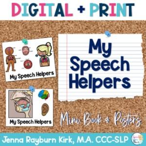 Speech Helpers Mini Book & Posters by Jenna Rayburn Kirk | TpT