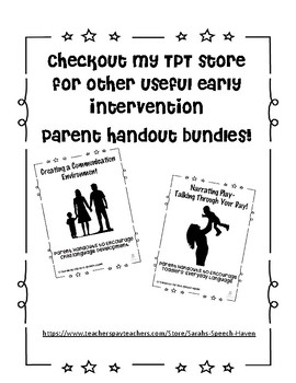 Speech Language Therapy Evaluation Quick Reference Parent