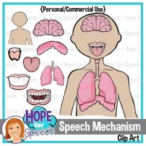 Speech Mechanism Clip Art {Hope for Speech} by Hope for Speech | TpT