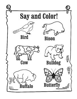 Speech Sound Printable Coloring Pages: Articulation