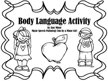 Speech Therapy: Body Language Freebie by Major Speech