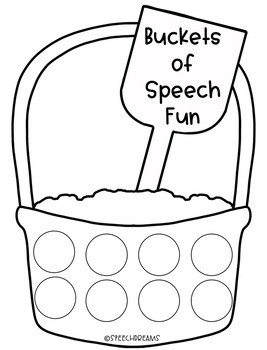 Speech Therapy Craft Activity Beach Bucket Summer by