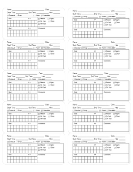 [Freebie] Speech Therapy Data Collection Labels by Speech