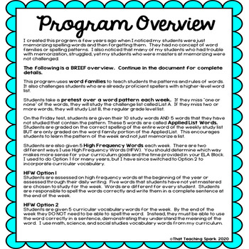 3rd Grade Differentiated Word Study Program Editable by