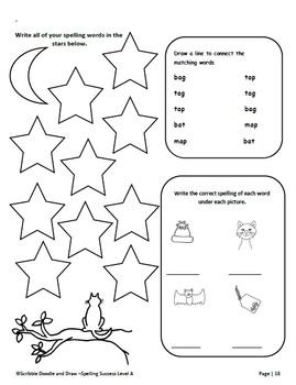 Spelling Success homework activities for grade 1 (level A