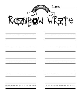 Spelling and Writing Printables by Classroom Creations by
