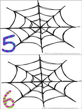 Spider Web Counting Cards FREEBIE! by Kindergarten