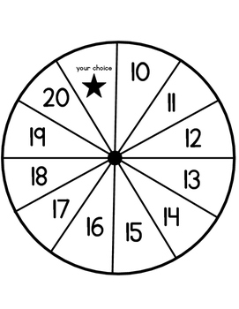 Spin & Write (teen number writing practice 10-20) by Emily