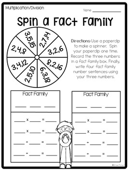 Spin a Fact Family by Primarily Speaking by Aimee Salazar