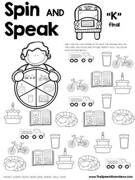 Spin and Speak™: Back to School Articulation by Jenna