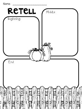 Spookley the Square Pumpkin Story Elements Freebie by