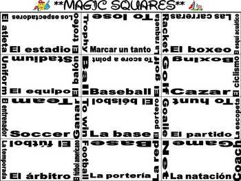 Sports Vocabulary Activities and Games Unit in Spanish