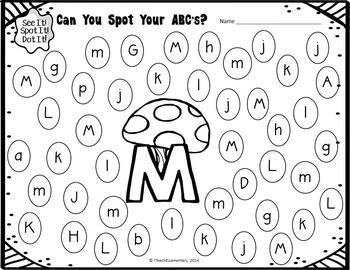 Spot & Dot! Literacy Edition {letter recognition, CVC
