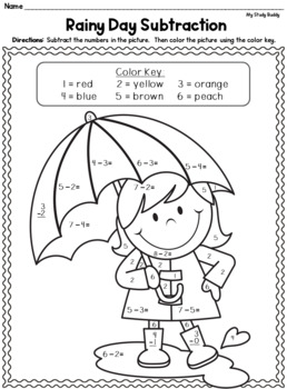 Spring Math Worksheets (Kindergarten, Spring Activities