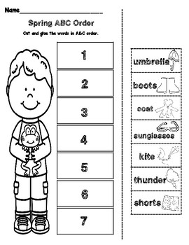 Spring ABC Order by Penley's Pointe Educational Resources