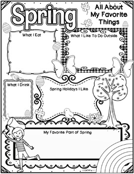 Spring Activities Freebie, Writing Activity, Reflection by