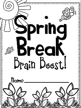 Spring Break Brain Boost for First Grade! by Stephany