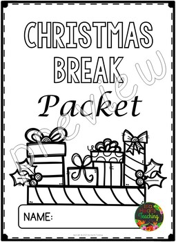Christmas Packet: Third Grade Christmas Break Packet