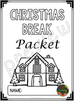 Christmas Packet: Fourth Grade Christmas Break Packet