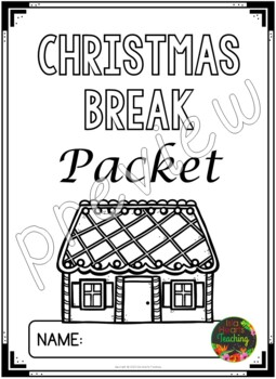 Christmas Packet: Fifth Grade Christmas Break Packet