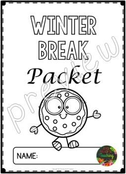 Winter Break: Kindergarten Winter Break Packet by Isla