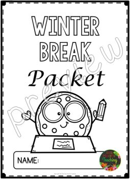 Winter Break: First Grade Winter Break Packet by Isla