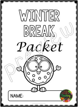 Winter Break: Third Grade Winter Break Packet by Isla