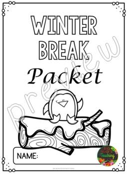 Winter Break: Fourth Grade Winter Break Packet by Isla